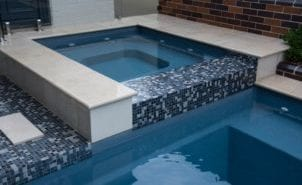 Square Pool design by Port Pools by Design